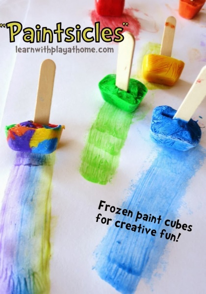 Frozen Paint Cubes