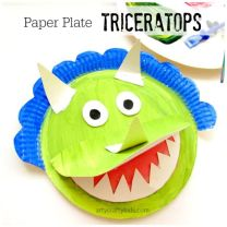 Paper-Plate-Triceratops-