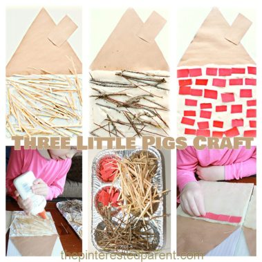 Three-Little-Pigs-kids-Craft-Build-a-straw-stick-brick-house