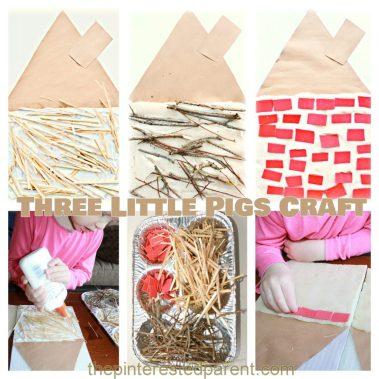Three-Little-Pigs-kids-Craft-Build-a-straw-stick-brick-house