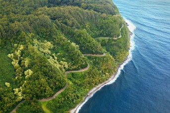 Road to Hana aerial - Maui, Hawaii