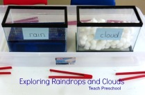 Exploring-raindrops-and-clouds-in-preschool